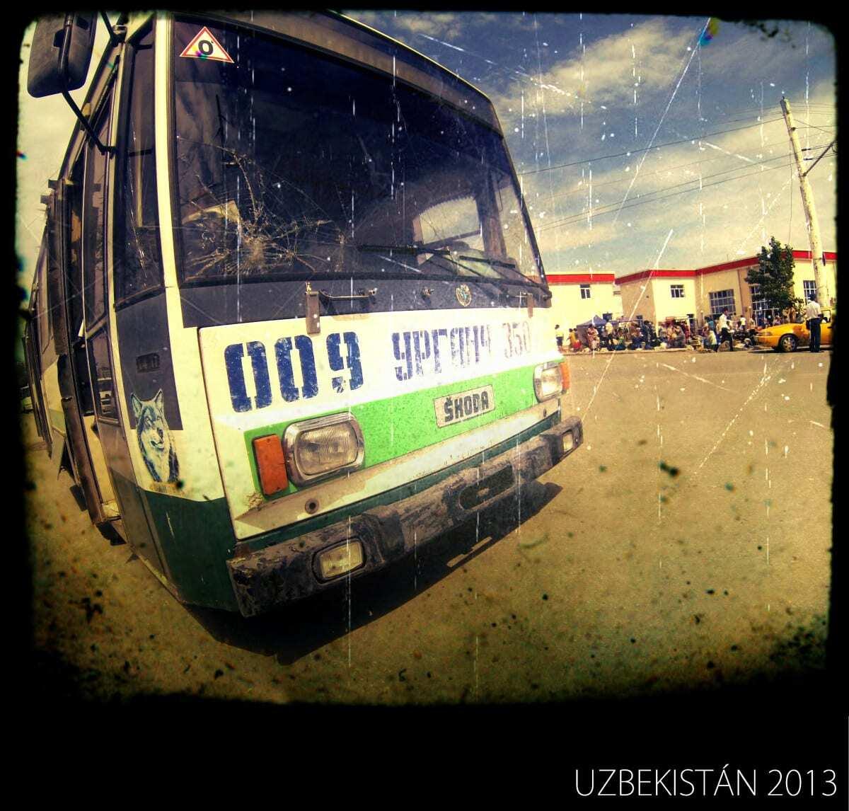 Český trolejbus v Uzbekistánu
