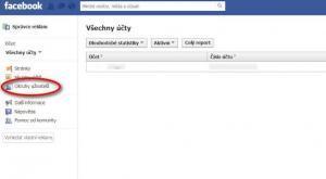 Facebook - Okruhy uživatelů