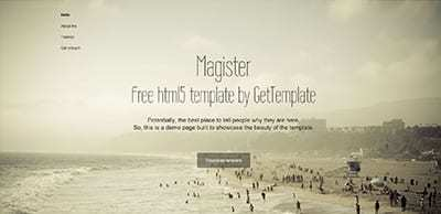 Magister: šablona zdarma