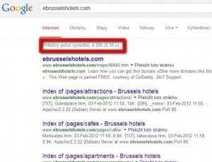 Google o ebrusselshotels.com