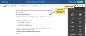 Svátek - Tělo emailu