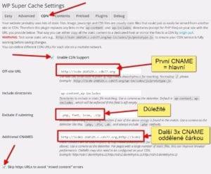 Nastavení CDN v pluginu WP Super Cache