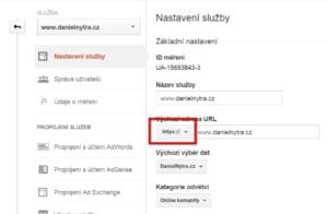 Google Analytics a https