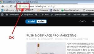 Kontrola https: Google Chrome