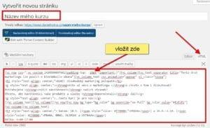 Visual Composer a vložení prodejní stránky