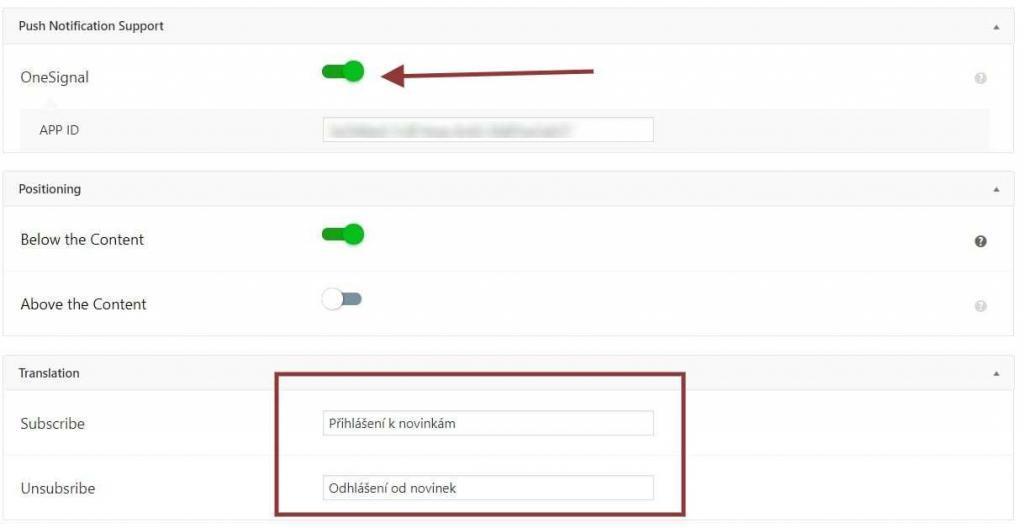 AMP a push notifikace