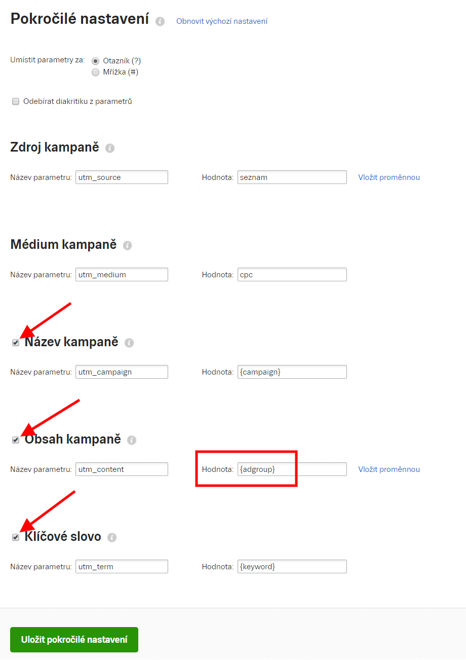 Automatické tagování v skliku a drobná změna