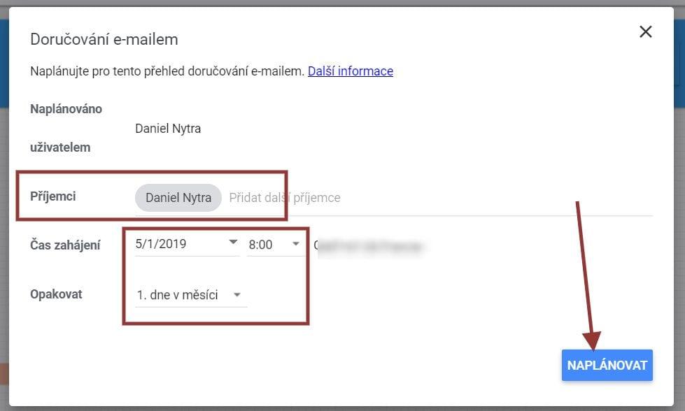 Google Data Studio - kdy dostávat email