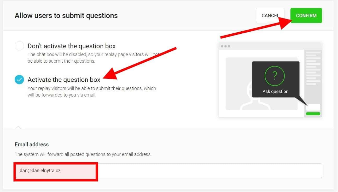 Webinarjam: Send email